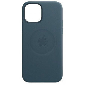 Leather Case with MagSafe за Apple iPhone 12 mini Baltic Blue