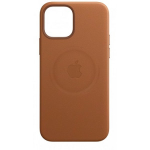 Leather Case with MagSafe за Apple iPhone 12 mini Saddle Brown