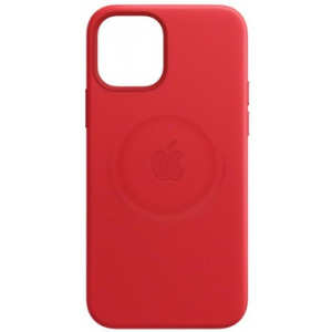 Leather Case with MagSafe за Apple iPhone 12 mini Red