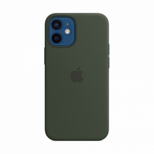 Silicone Case with MagSafe за Apple iPhone 12 mini Cypress Green