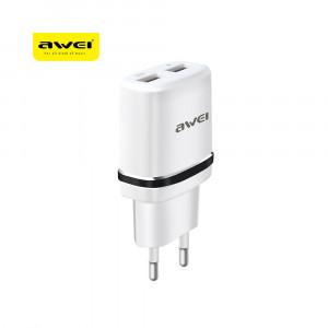 Адаптер AWEI 2xUSB - Oppo Reno4 Z 5G