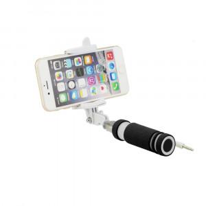 Selfie стик Blun Mini с кабел (13,5-60см: 3,5 Jack) черен