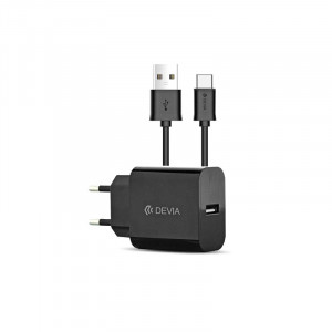 Зарядно USB Type C 220V 2.1 A