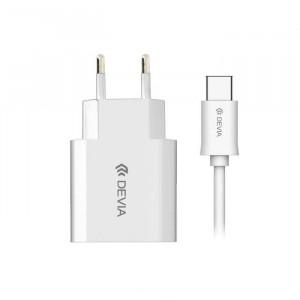 Зарядно USB Type C 220V 2.1 A White