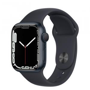 Apple Watch Series 7 GPS 41mm Midnight Aluminium Case with Sport Band Midnight