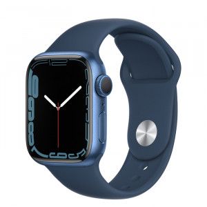 Apple Watch Series 7 GPS 41mm Blue Aluminium Case with Sport Band Abyss Blue