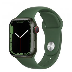 Apple Watch Series 7 GPS 41mm Green Aluminium Case with Clover Sport Band Green