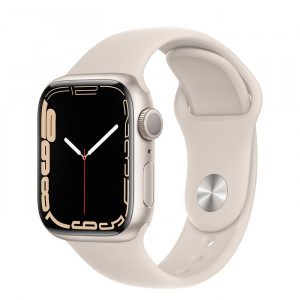 Apple Watch Series 7 GPS 41mm Starlight Aluminium Case with Sport Band Starlight